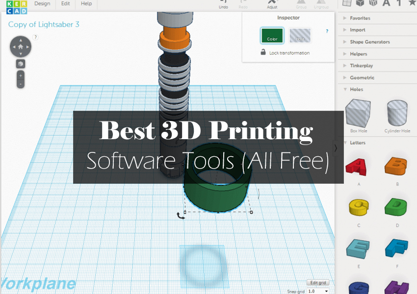 Free 3d Printing Software For Designing Modeling Slicing Stl Files